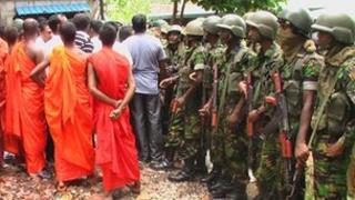 Sri Lanka mosque protest