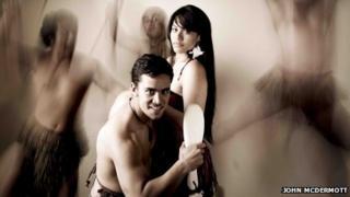 Parihi raua ko Herena (Paris & Helen) played by Whatanui Flavell & Roimata Fox (Picture: John McDermott)