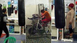 Women in Somali gym