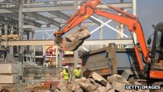 Construction site in Lewisham
