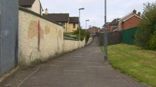 Scene of shooting in Creggan estate