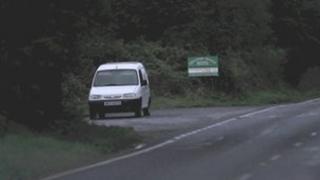 White van abandoned on Fathom Line