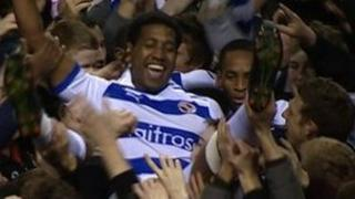 Reading celebrate promotion to the Premier League
