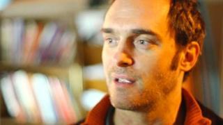 "One of Occupy's ""illuminators"", filmed using the bokeh effect"