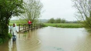 Nick Owen supplied this picture of flooding on the Evenlode