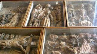Seven 15th c alabaster carvings were discovered during restoration work at St. Marie's Roman Catholic Cathedral, Sheffield