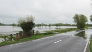 Flooding by the A361