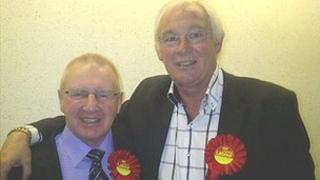 Jim Leishman with fellow Labour councillor Bob Young Pic: Steven Godden