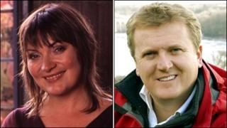 Lorraine Kelly and Aled Jones