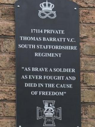 Plaque for Private Barratt