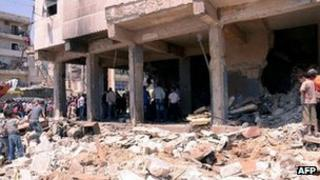 Five people were killed in the 5 May 2012 bomb bomb blast in Aleppo, activists said