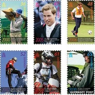 Stamp set featuring Prince William