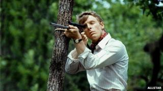 Edward Fox as the assassin in The Day of the Jackal