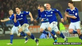 Cardiff players