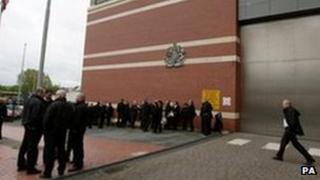 Prison officers at HMP Manchester