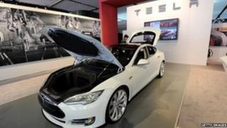 Tesla Motors Model S sedan car