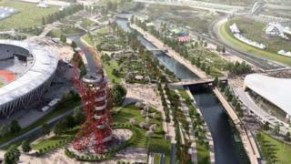 An artist's impression of the Queen Elizabeth Olympic Park