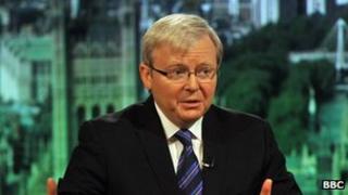File photo: Former Australian Prime Minister Kevin Rudd