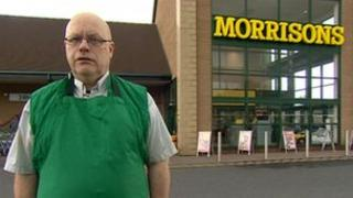 Bill Cawley in front of Morrisons