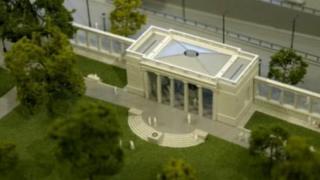Artist impression of the memorial