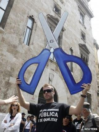 Teachers' demonstration in Valencia - 16 May
