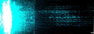 """Blue light funnelled through array of """"invisibility cloaks"""""""
