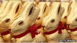 Lindt chocolate bunnies (file pic)