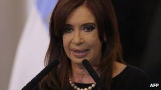 Argentine President Cristina Fernandez