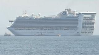 Travel Trident and tender alongside cruise ship the Caribbean Princess