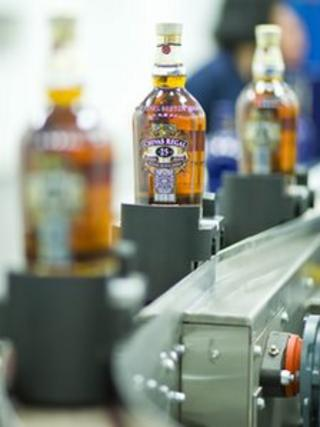 Chivas Regal bottles run off new bottling line at Chivas Brothers' Paisley site