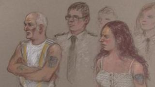 Court sketch of Mick and Mairead Philpott