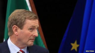 Irish Prime Minister Enda Kenny at a news conference in Dublin (1 June)