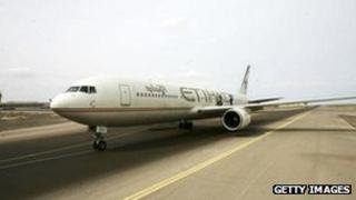 Etihad Airways plane