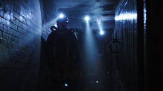 Miners in the dark
