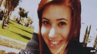 A picture of Melissa Bassi is seen on 20 May 2012 following a blast that killed 16-year-old Melissa Bassi.