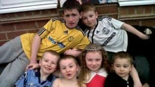 Duwayne, Jade, John, Jack, Jessie and Jayden Philpott.