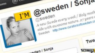 Screenshot of Sweden Twitter account