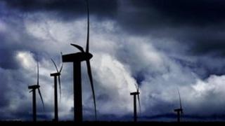 Beinn An Tuirc wind farm on the Kintyre peninsula