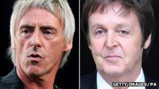 Paul Weller and Paul McCartney