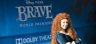 The character Merida at the premiere