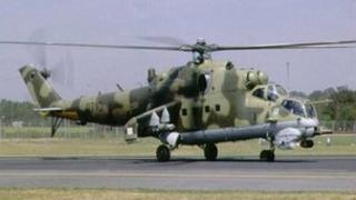 Russian-made attack helicopter