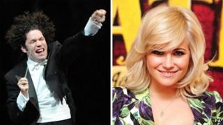 Gustavo Dudamel and Pixie Lott