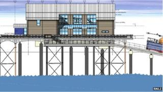 An architect's impression of the new lifeboat station