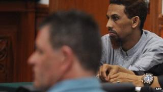 Peter Hughes at the trial of Umar Patek