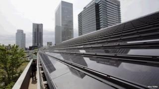 Solar panels in Japan