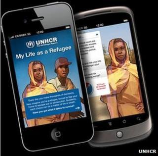 """""""My life as a refugee"""" game, UNHCR"""