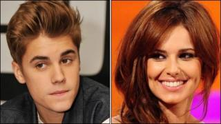 Justin Bieber and Cheryl Cole