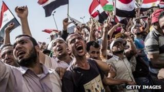 Egyptians celebrate Mohammed Mursi's victory