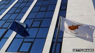 Cyprus and EU flag