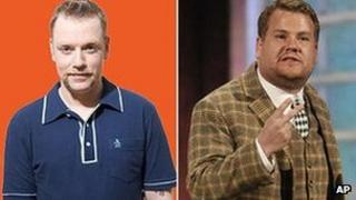 Rufus Hound and James Corden